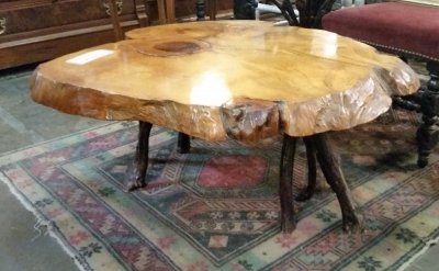 36-87502 VINTAGE SLICE OF TREE TRUNK COFFEE TABLE (2).jpg