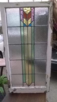16D08002B LARGE GEOMETRIC STAINED GLASS WINDOW.jpg