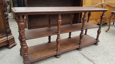 16D08013 NARROW 2 TIERED OAK CONSOLE TABLE.jpg