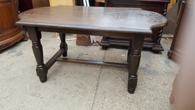 16D08016B SMALL DARK OAK RUSTIC TURNED LEG DINING TABLE (1) - Copy.jpg
