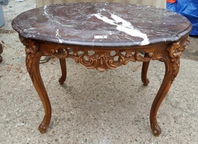 16D08036 MARBLE TOP COFFEE TABLE AS IS.jpg