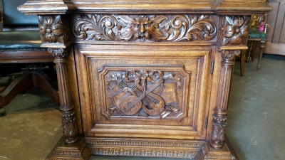 16D08045 FRENCH HENRI II CARVED GUN CABINET (4).jpg