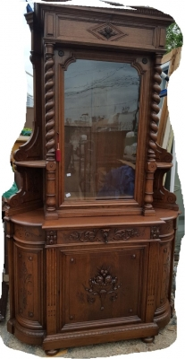16D08046 HUGE BARLEY TWIST CORNER CABINET WITH GLASS DOOR (3).jpg
