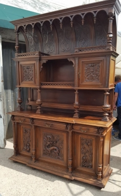 16D15054 CATHEDRAL TOP CARVED BUFFET (1).jpg