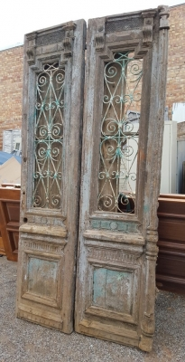 36- PAIR OF WOD AND IRON EGYPTIAN DOORS (1).jpg