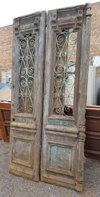 36- PAIR OF WOD AND IRON EGYPTIAN DOORS (1).jpg