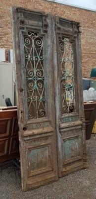36- PAIR OF WOD AND IRON EGYPTIAN DOORS (2).jpg