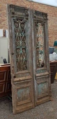 36- PAIR OF WOD AND IRON EGYPTIAN DOORS (2).jpg