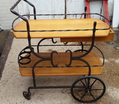 16E08033 IRON AND OAK TEA CART .jpg