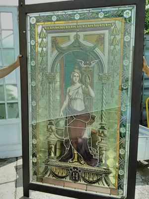 16E20028 LARGE PAINTED LADY STAINED GLASS WINDOW (2).jpg