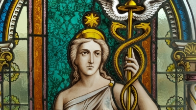 16E20028 LARGE PAINTED LADY STAINED GLASS WINDOW (3).jpg