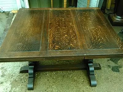 16E20022 ENGLISH DOUBLE PEDESTAL DRAWLEAF TABLE (3).jpg