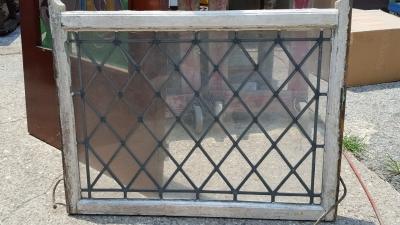 16G01019 TUDOR LEADED GLASS CLEAR WINDOW.jpg