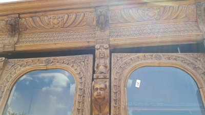 16G01006 HUGE MECHELLIN FRENCH OAK LIBRARY BOOKCASE WITH CARVED FEATURES (5).jpg