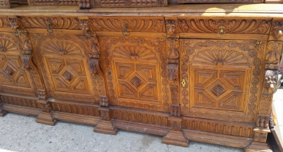 16G01006 HUGE MECHELLIN FRENCH OAK LIBRARY BOOKCASE WITH CARVED FEATURES (7).jpg
