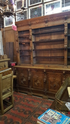 16G01006 HUGE MECHELLIN FRENCH OAK LIBRARY BOOKCASE WITH CARVED FEATURES (12).jpg