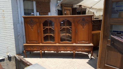 16G01027 LONG COUNTRY FRENCH BOOKCASE WITH 4 DOORS (1).jpg