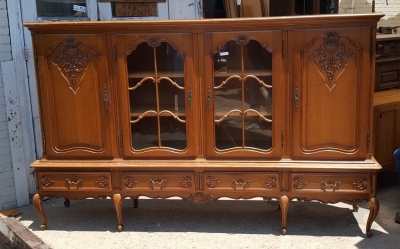 16G01027 LONG COUNTRY FRENCH BOOKCASE WITH 4 DOORS (2).jpg