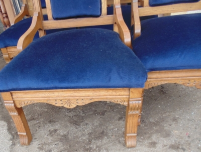 13J17001 SET OF 4 ECCLESIASTICAL CHAIRS (2).JPG