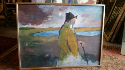 16G01007 MPRESSIONIST OIL PAINTING OF MAN ON THE BEACH.jpg