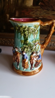 16G01050 MAJOLICA LARGE PITCHER.jpg