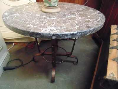 13K07001 LARGE MARBLE AND IRON TABLE.JPG