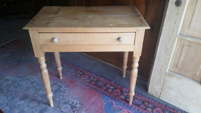 16G23517ANTIQUE PINE SIDE TABLE OR WRITING DESK.jpg