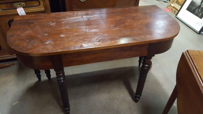 16G23519 DROP LEAF ANTIQUE TEA TABLE WITH SWING LEG AND ONE LEAF (3).jpg