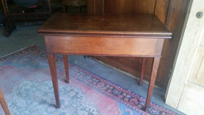 16G23523 19TH CENTURY GAME TABLE WITH FLIP TOP NEEDS LEATHER(1).jpg