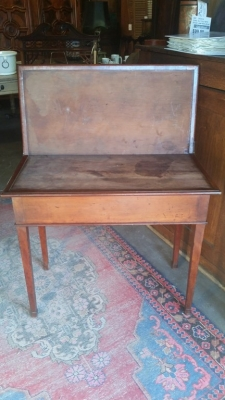16G23523 19TH CENTURY GAME TABLE WITH FLIP TOP NEEDS LEATHER(2).jpg