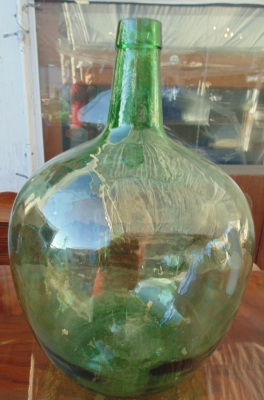 14A01005 AND006 LARGE GREEN BOTTLES WITH WOOD MOLD MARKS (2).JPG