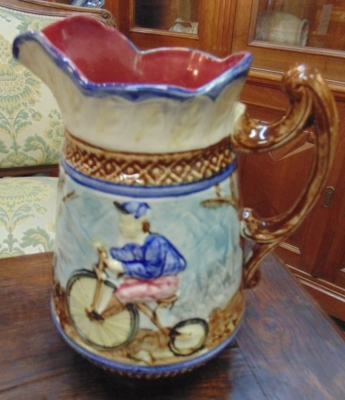 14A01022 MAJOLICA VASE BICYCLES.JPG