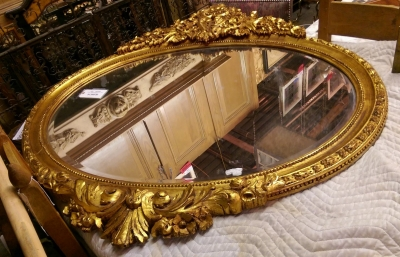 16F22501 LARGE OVAL MIRROR IN GILT FRAME.jpg