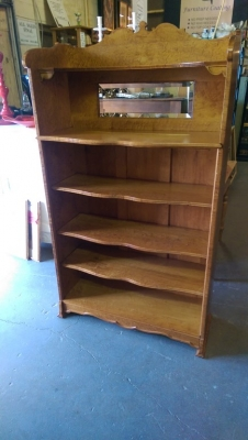 16H04004 SOLID BIRDSEYE MAPLE BOOKCASE (1).jpg