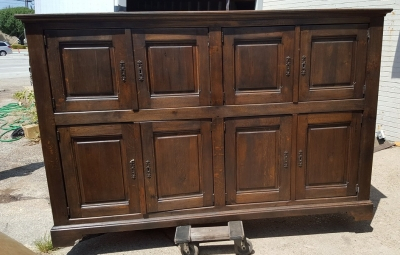 16H07003 DARK OAK RUSTIC LONG CABINET WITH SQUARE PANELS (5).jpg