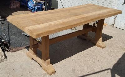 16H07049 RAW OAK TRESTLE TABLE (2).jpg