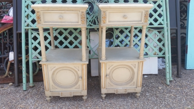 16H07035 PAIR OF GREY LOUIS XVI NIGHT STANDS.jpg