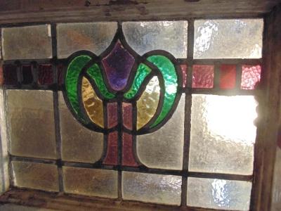 13J09001 THRU 003 ONE OF THREE PURPLE AND GREEN WINDOWS.JPG