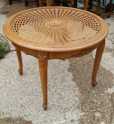 16H17005 LOUIS XV CANED AND GLASS TOP COFFEE TABLE  (2).jpg