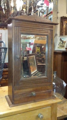 16H17021 OAK MEDICINE CABINET WITH BEVELED MIRROR (2).jpg