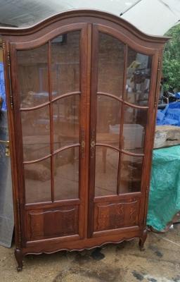 16H17022 LOUIS XV OAK BOOKCASE 2 DOOR (1).jpg