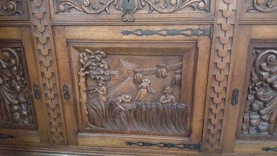 16H17024 HIGHLY CARVED OAK SIDEBOARD (5).jpg
