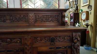 16H17024 HIGHLY CARVED OAK SIDEBOARD (6).jpg