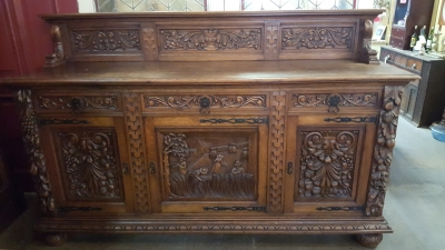 16H17024 HIGHLY CARVED OAK SIDEBOARD (7).jpg