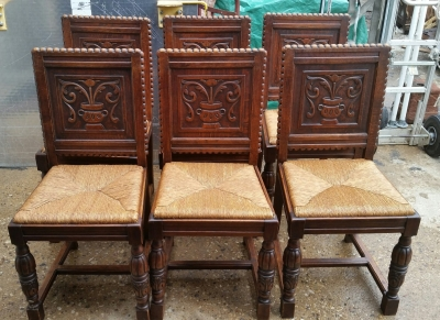 16H17028 SET OF 6 ACANTHUS CUP CARVED OAK CHAIRS (1).jpg