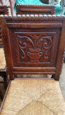 16H17028 SET OF 6 ACANTHUS CUP CARVED OAK CHAIRS (2).jpg