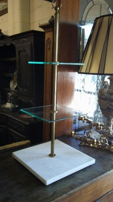 16H08 GLASS AND MARBLE 3 TIER TABLE.jpg