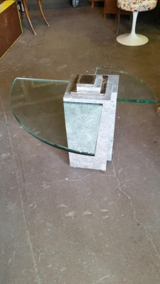 16H08 MODERN GLASS AND STONE TABLE.jpg