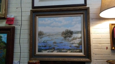 16H08 SIGNED BLUEBONNET PAINTING.jpg