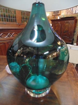 13L23575 TURQUOIS GLASS LAMPS (1).JPG